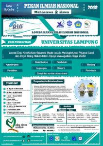 Lomba Menulis Karya Tulis Ilmiah 2018 UKM Penelitian Universitas Lampung