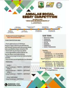 Andalas Social Essay Competition 2019