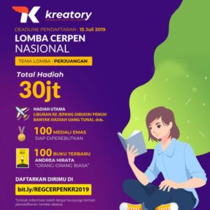 Lomba Menulis Cerpen 2019 oleh Kreatory