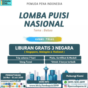Lomba Puisi Nasional PPI 2019
